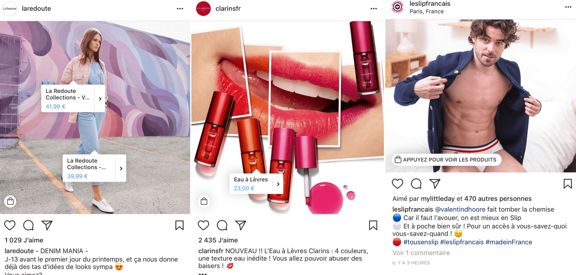 Instagram Passe Mode Shopping Avec Bouton - Agence de Marketing Digital Paris